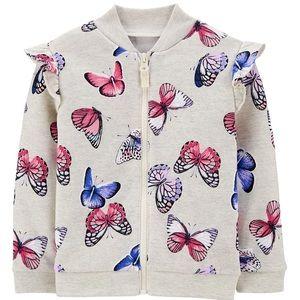 12M Carter's Butterfly Zip Jacket